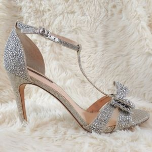 INC Sparkly Diamond T Strap Heels Reesie New 10